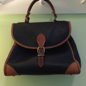 Vintage Dooney & Bourke handbag navy and tan